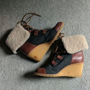 Tory Burch Shoes - GORGEOUS Tory Burch wedge boots
